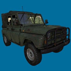 3D model duggy car jeep