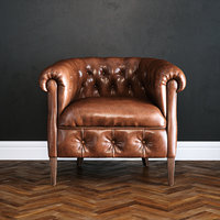Photorealistic Leather Armchair
