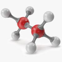 3D ethane molecular model