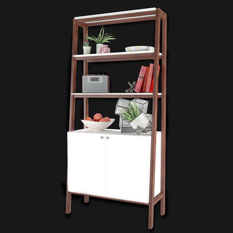 bookcase modernism cabinet 3D model