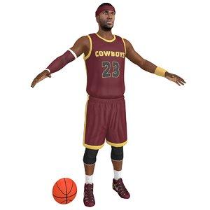 basketball player ball 3D model