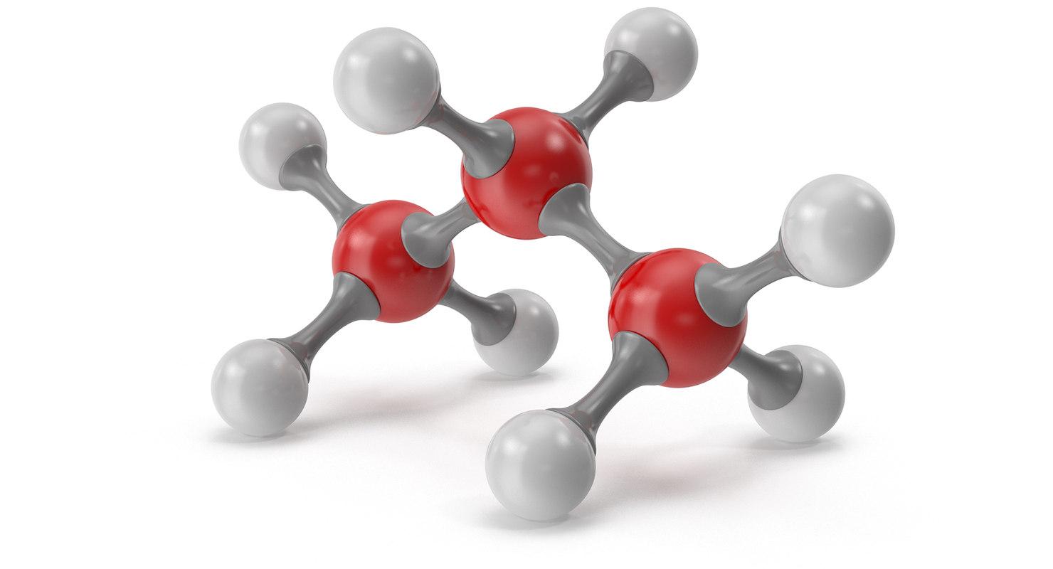 3D model propane molecular