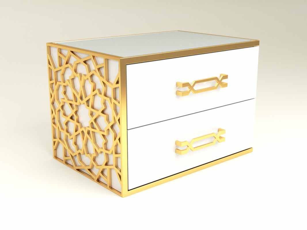 bedside table arabic 3D model