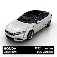 3D 2016 honda clarity model