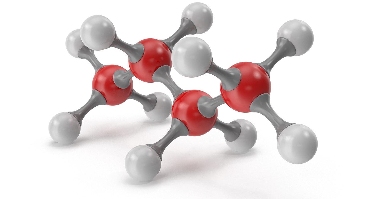 3D model butane molecular