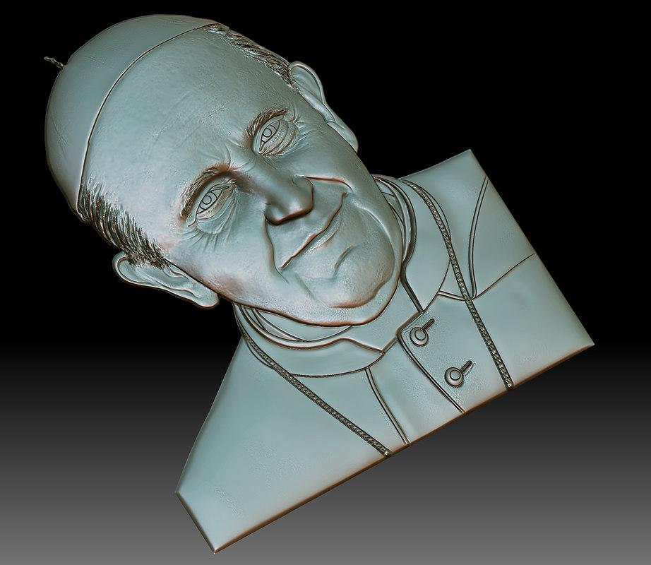3D francesco pope model