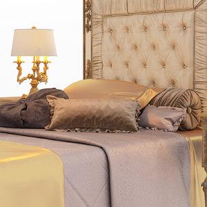 bed roberto giovannini 1370sb 3D model