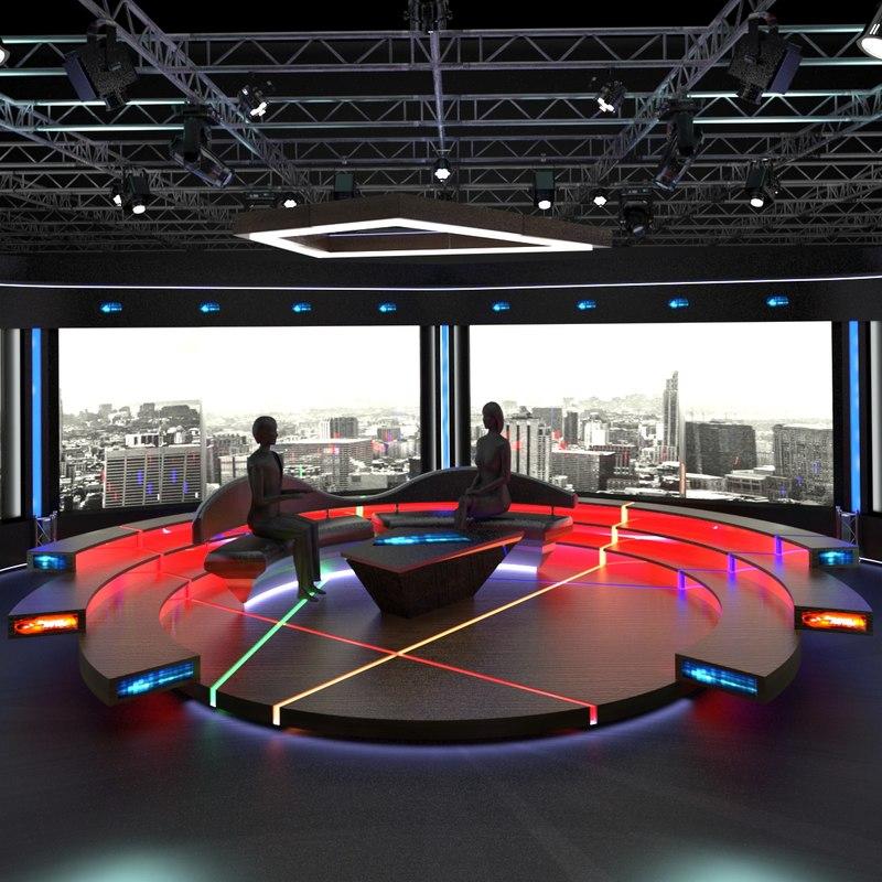 virtual tv studio chat model