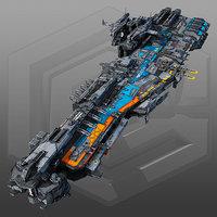 scifi frigate g2 3D model