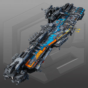 scifi frigate g2 3D model