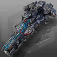 sci fi battleship g6 3D