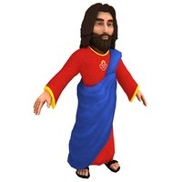 3D cartoon jesus christ