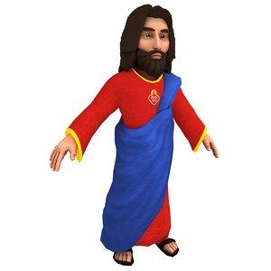 3D cartoon jesus christ