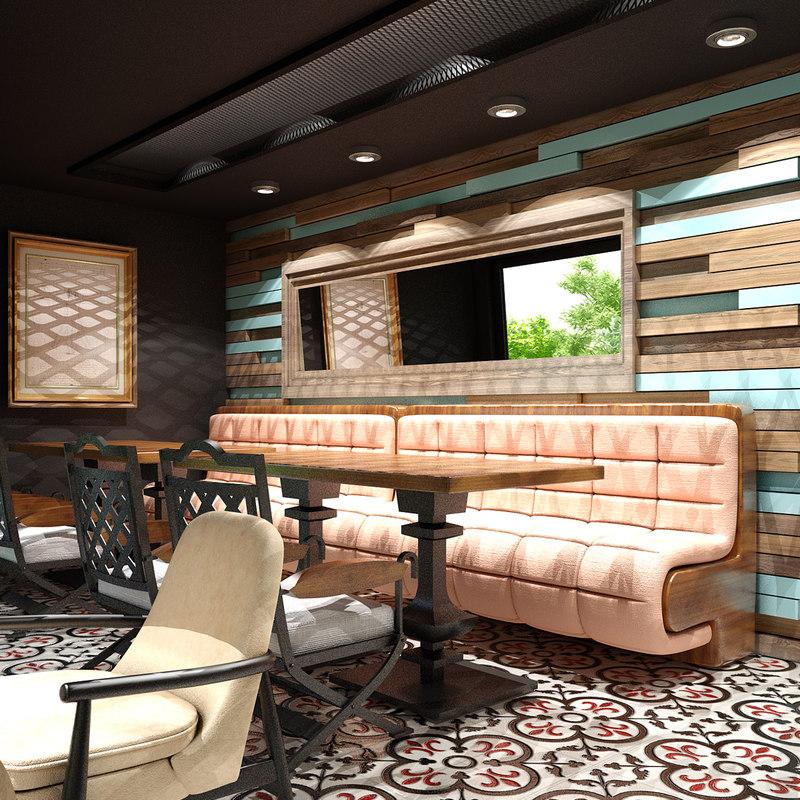 cafe interior 15 3D
