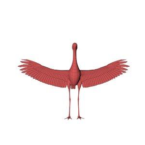 3D model base mesh stork