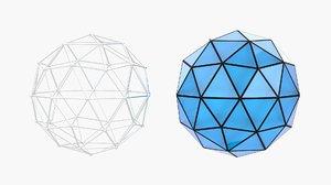 3D icospheres sphere
