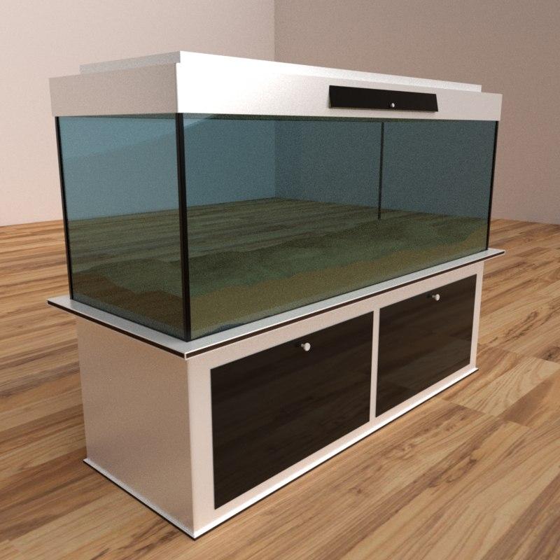 modern aquarium model