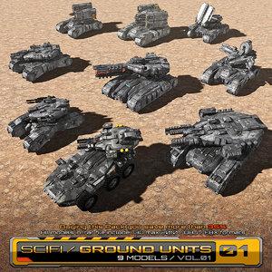 3D 9 units model