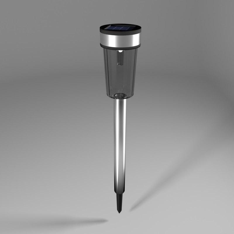 modern garden lamp 3D model