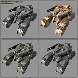 3D scifi light tank mk1