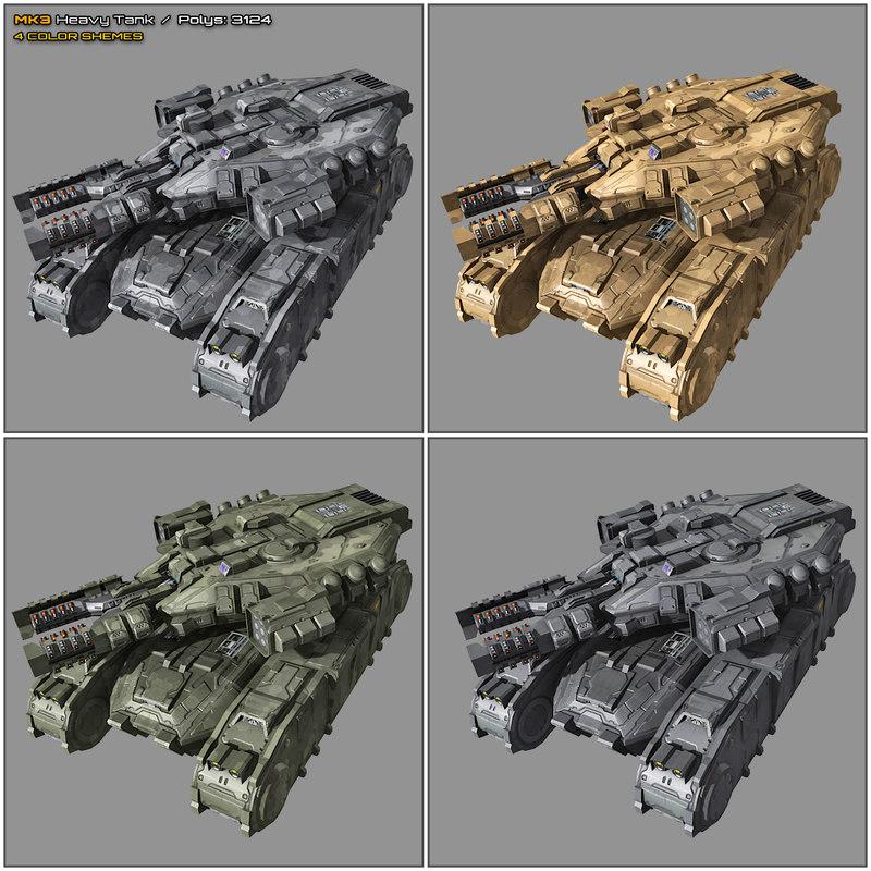 scifi heavy tank mk3 model