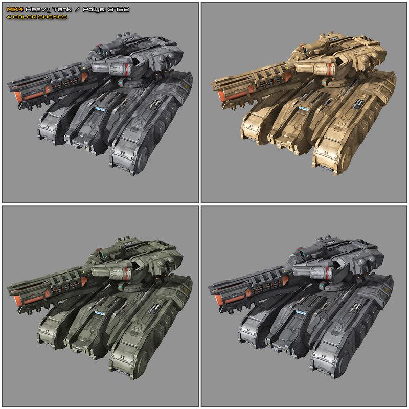 scifi heavy tank mk4 3D model