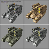 3D scifi missile launcher mk6