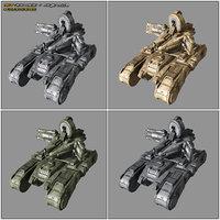 scifi medium tank radar 3D model