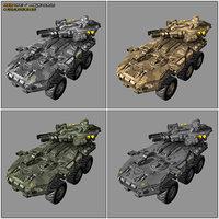 scifi apc 6x6 mx6 3D model