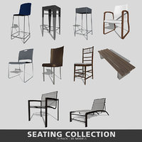 3D model seating bar dining