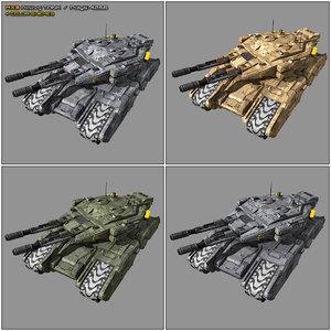 scifi heavy tank mx3 3D model