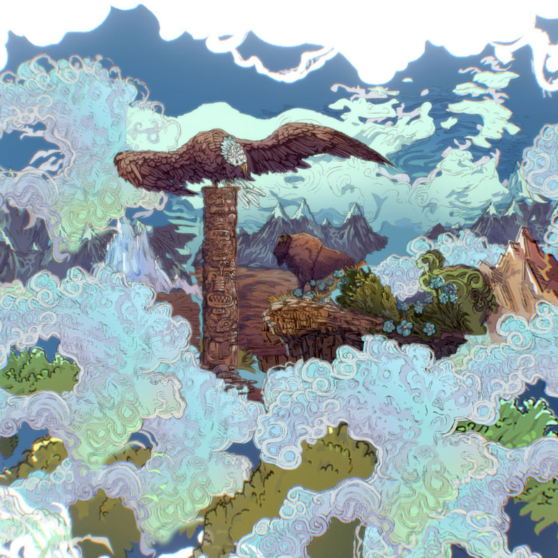 3D model parallax scenes