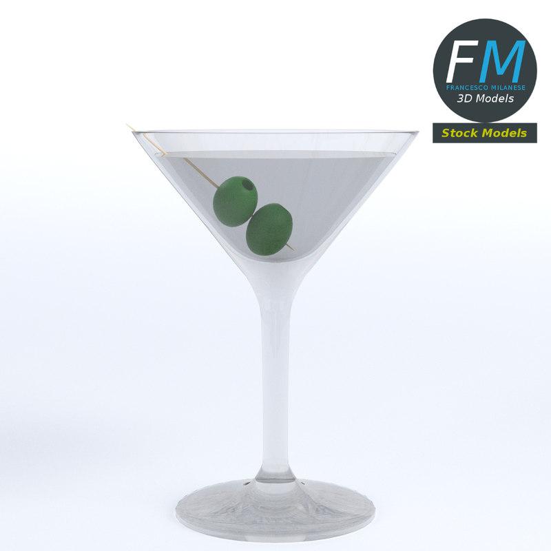 3D cocktail olives