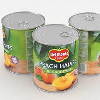 food peach 3D model