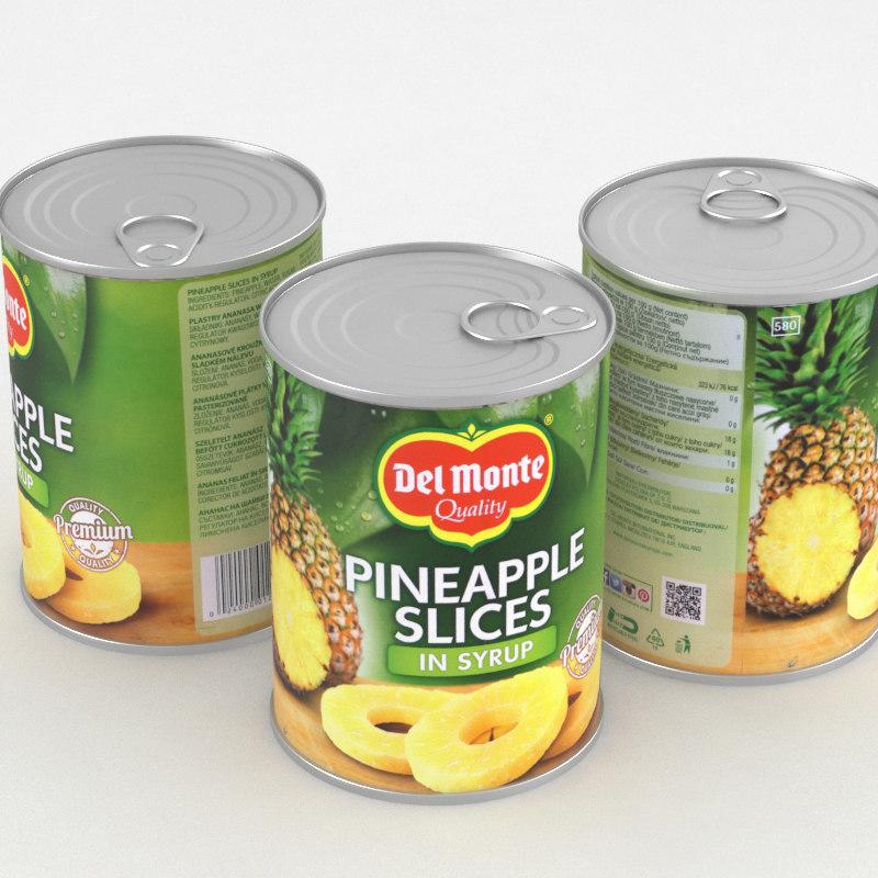 3D food pineapple model