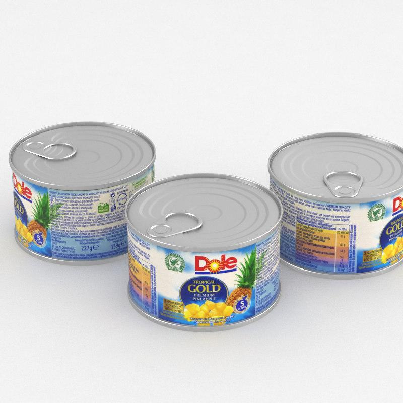 food pineapple 3D model