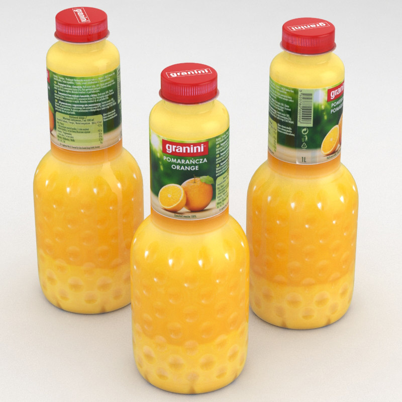 bottle juice 3D model