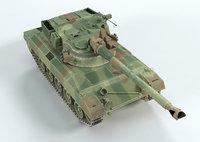 3D tank sk105a2s cfn model