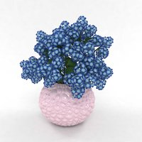 bouquet hydrangea blue 3D model
