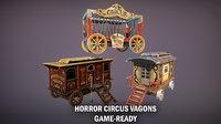 Horror circus vagons