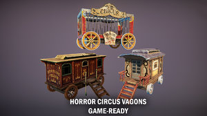 3D circus vagons model