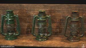 3D oil lantern 3 variations