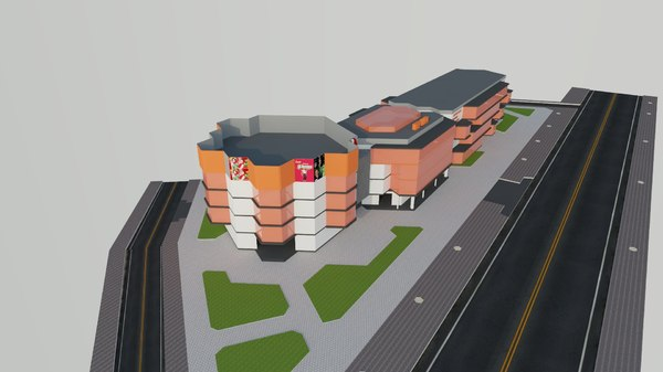 commercial center 3D model
