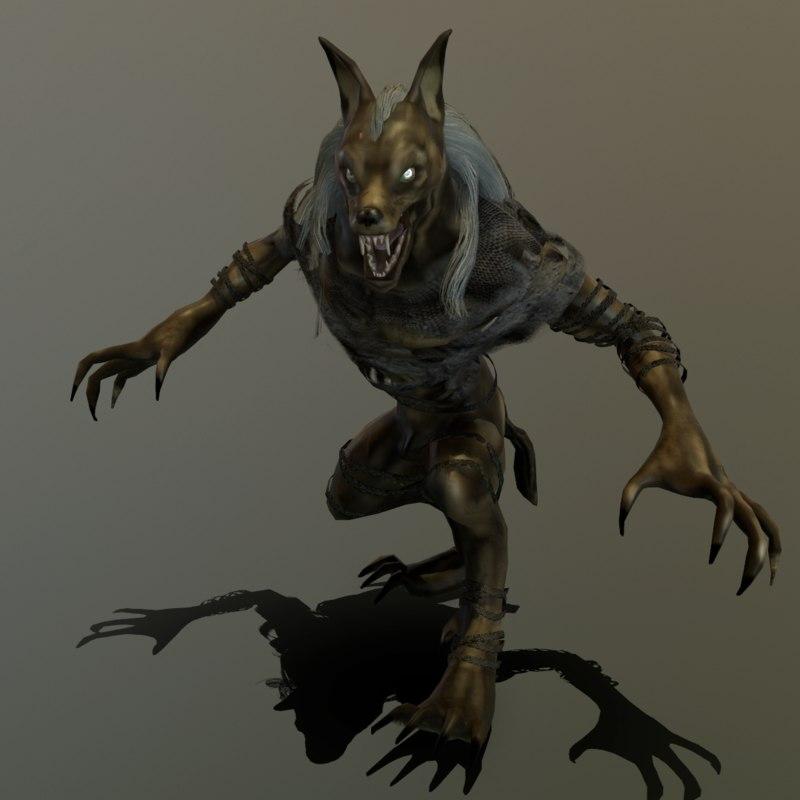 werewolf wolf 3D model