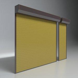 shutter garage 3D model