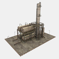 3D oil refinery unit