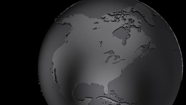 3D globe black model