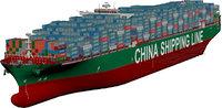 cscl pacific ocean ship 3D model
