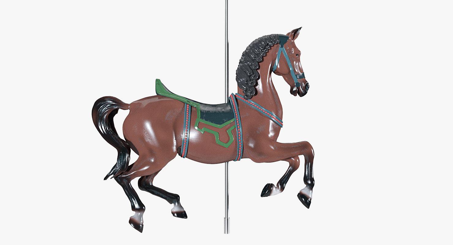 3D carousel horse model