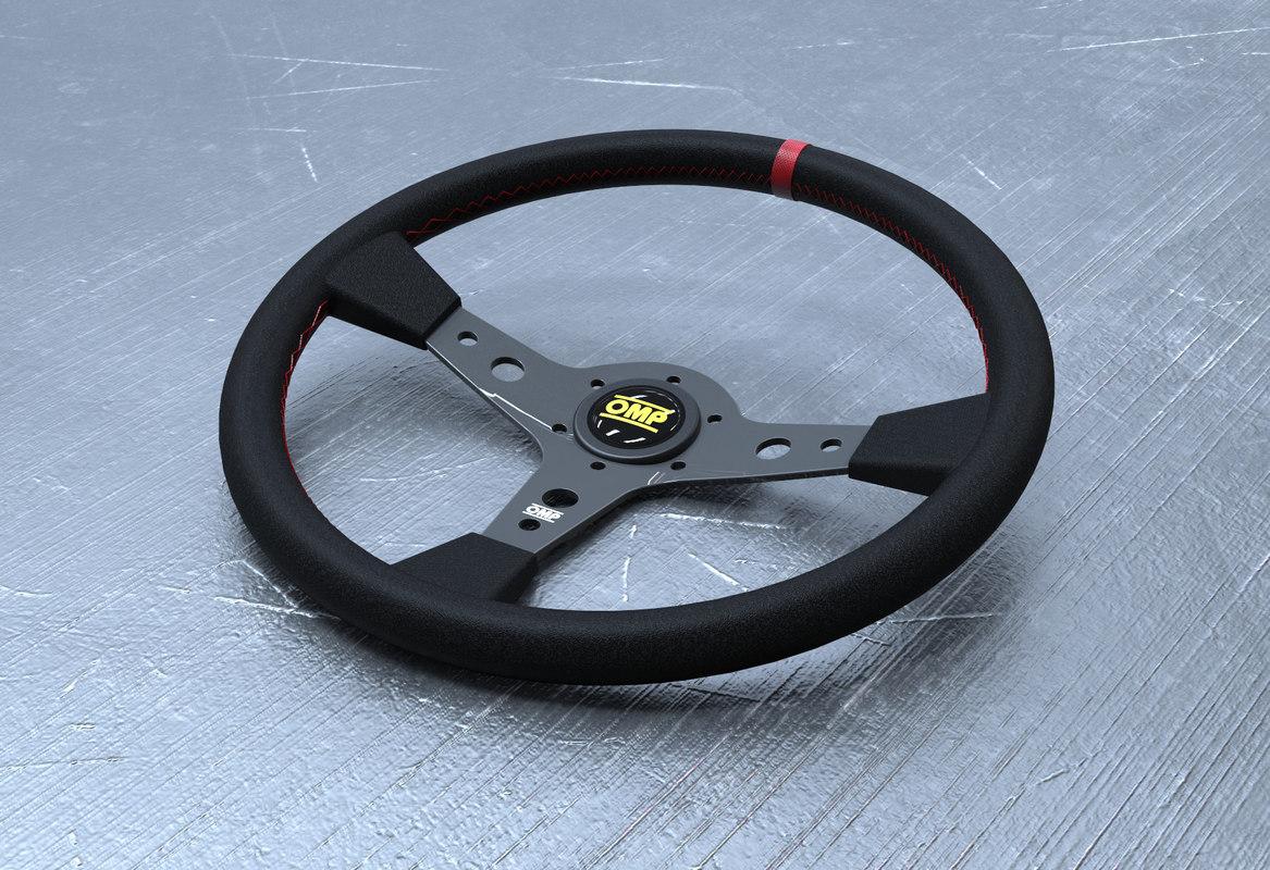 3D omp steering wheel